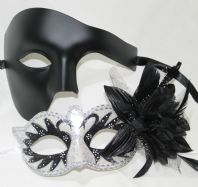 Black & White Couples Masks